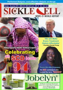 SICKLE CELL NEWS, OCTOBER - DECEMBER 2019