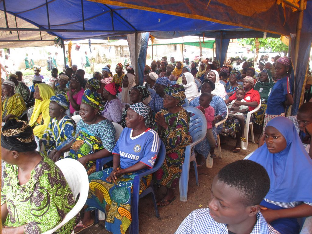 October 2015 - rural SCD awareness programme at Idiya-Batake.Oyo State, Nigeria, organised by SCHAF in collaboration with the National Youth Service Corps