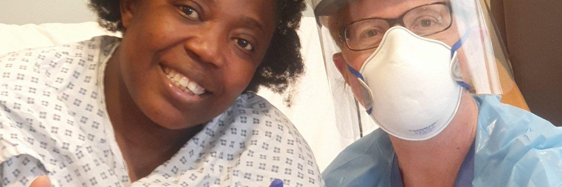 Nora with Dr. Sarah Stuart-Smith